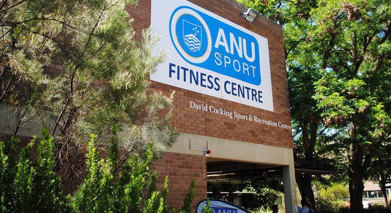 Front of ANU Sport building