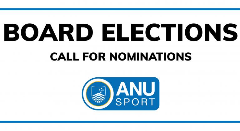 White background. Text says ''Board elections: Call for nominations""