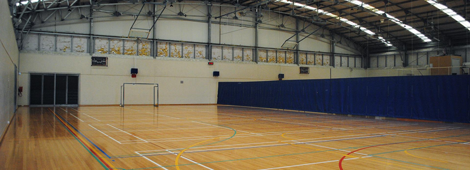 Sports hall and court