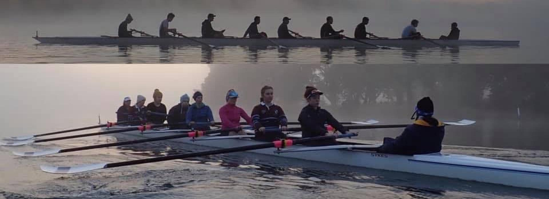 ANU Boat CLub mens & women's 8s